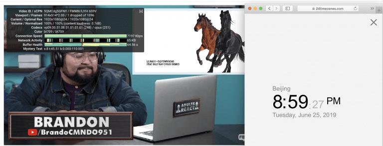 macbook surfshark vpn 香港服务器节点 翻墙连接测试-youtube 2019-06-25 下午8.59.28